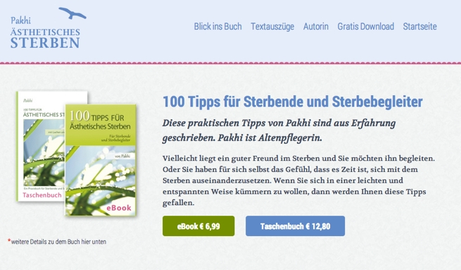 Landeseite für ein Buch von WordPress