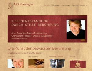 MU Massage, eine neue responsive Webseite, erstellt von FYN Marketing