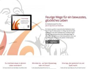 Parallax Landing Page: Feuerwege - iPad App