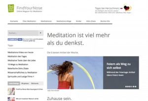FindYourNose - Online Magazin für Meditation
