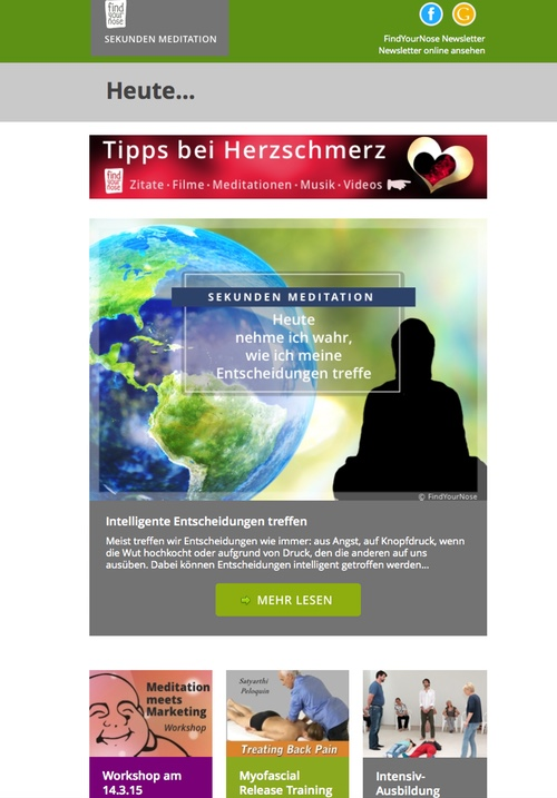 Email Marketing - der Newsletter von FindYourNose