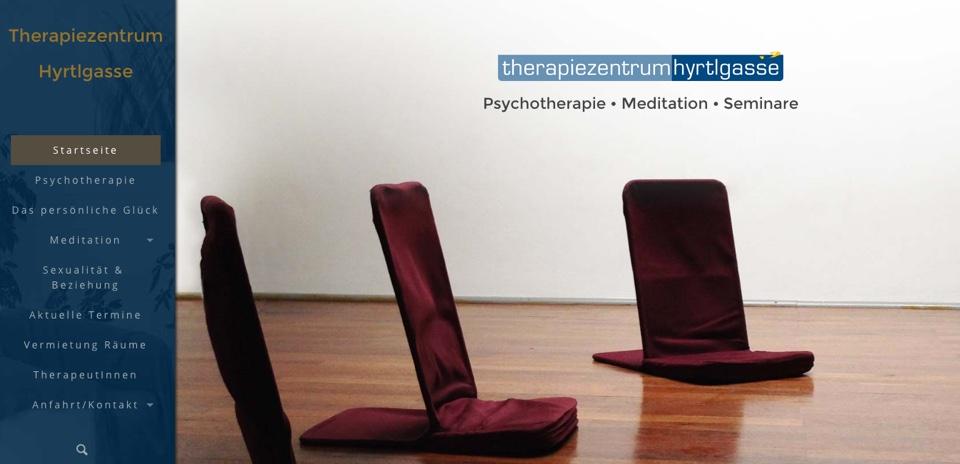 Webdesign für Therapiezentrum Hyrtlgasse, Wien