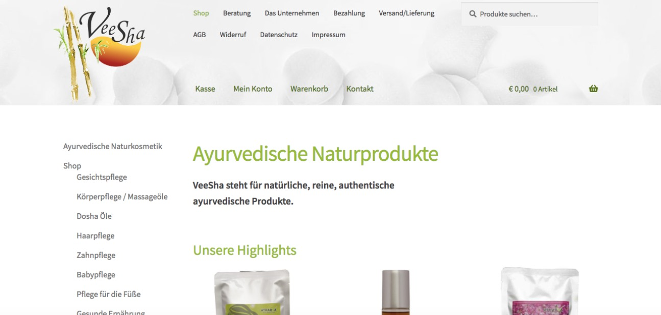 Veesha - Ayurvedische Naturprodukte