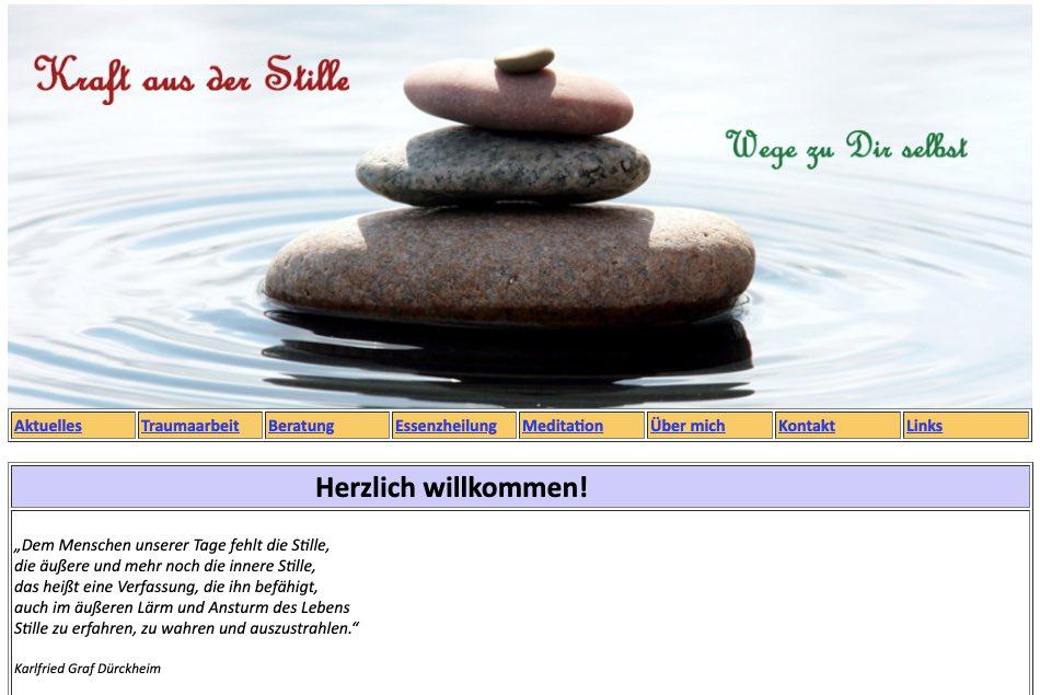 Kraft aus der Stille Traumatherapie in Hamburg vorher